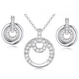 Set Samanta silver crystal